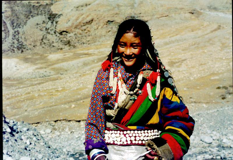 漂亮的藏族姑娘