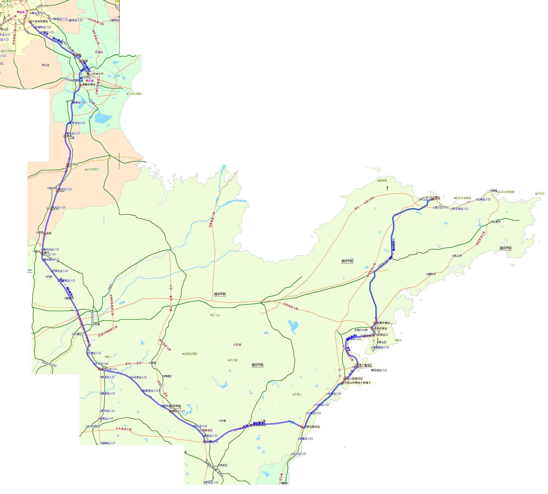 天津沿海高速路线图