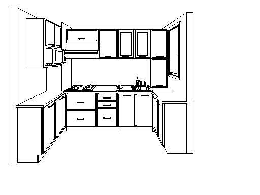 厨房平面图简单手绘