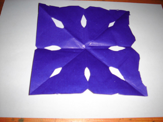 四折剪纸图案画样