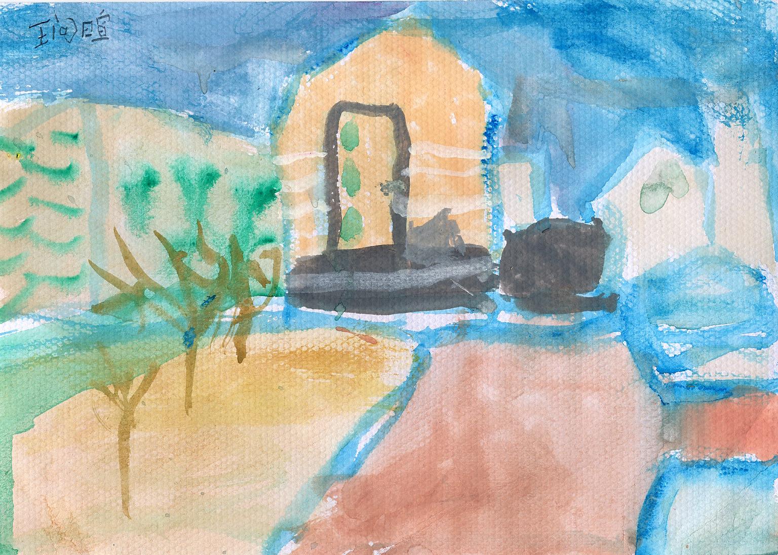 春天第一次写生----陈围美术工作室小学生班风景写生作品赏析(一)