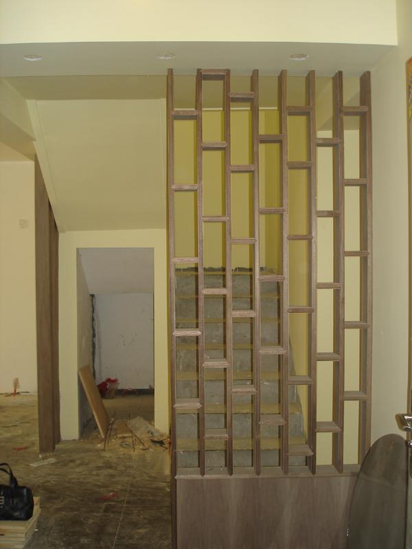 客厅柱子隔断效果图
