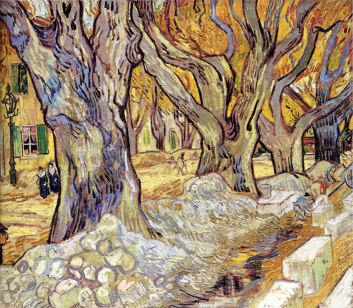 补发凡高的第二张画《梧桐树群》