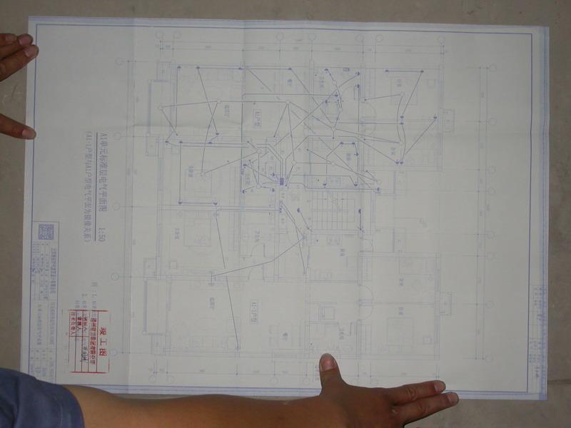 办理开工证的时候,找到了水路电路图.感谢物业师傅帮忙.