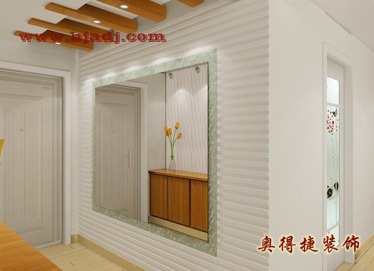 3a户型设计效果图002 门厅鞋柜 门厅装饰墙