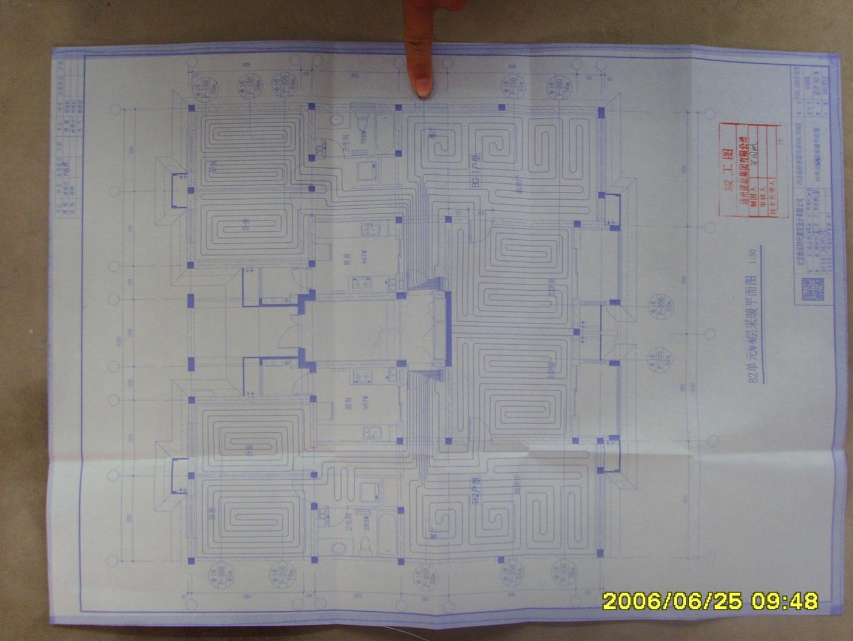 和谐家园部分户型水路电路施工图
