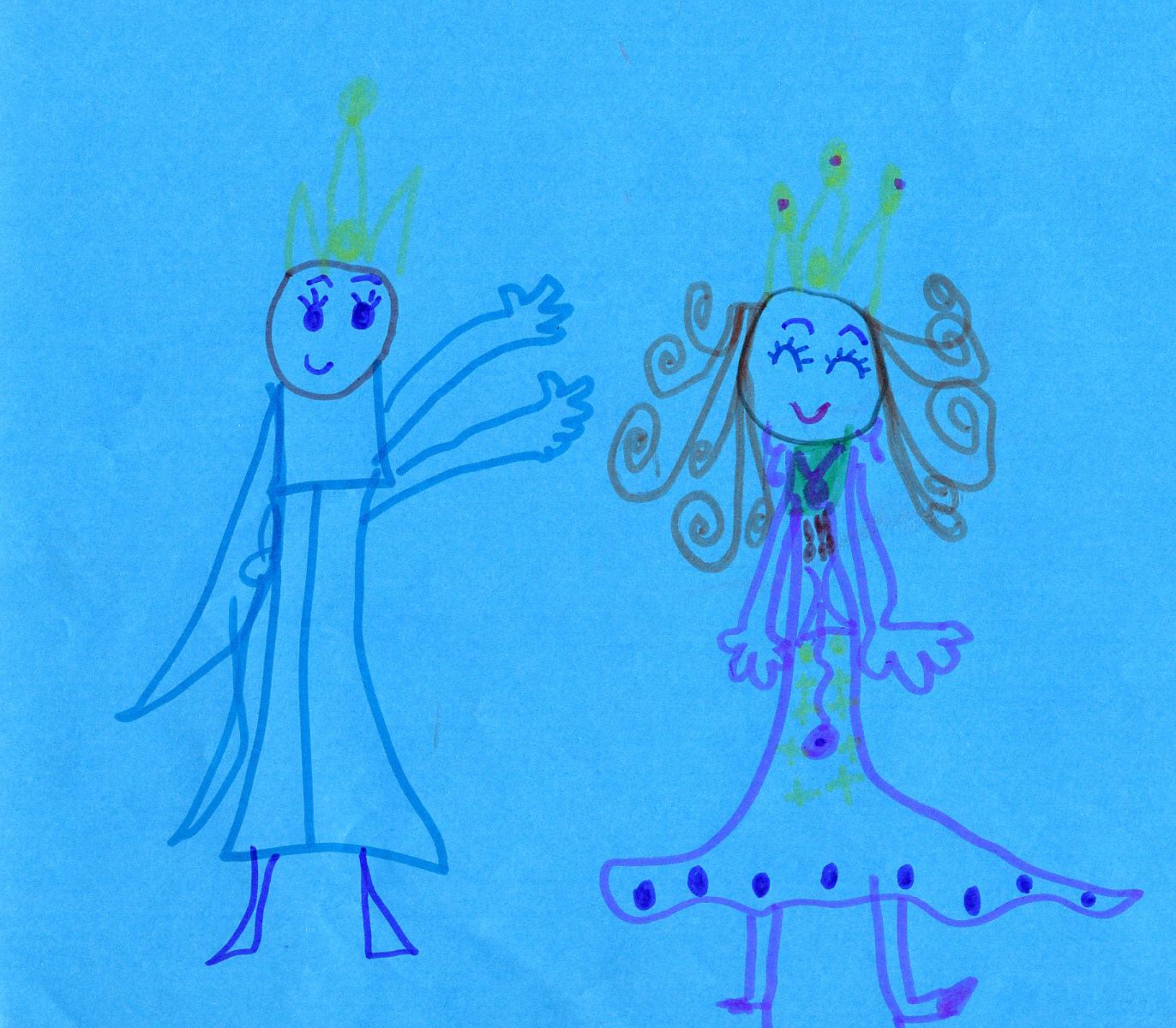 天天画画 千千长大(连载九)----王子与公主