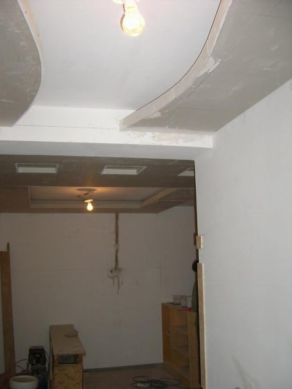 卧室波浪石膏线吊顶