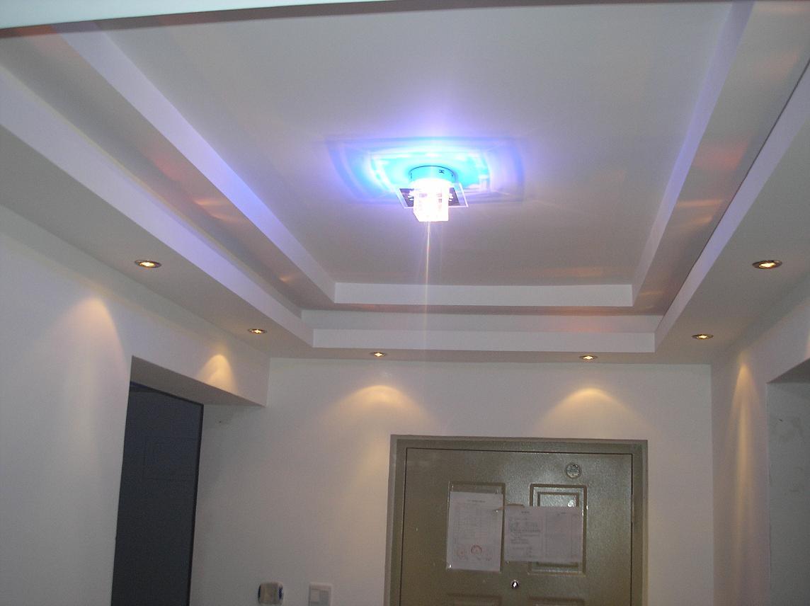 门厅吊顶,不同灯光不同效果