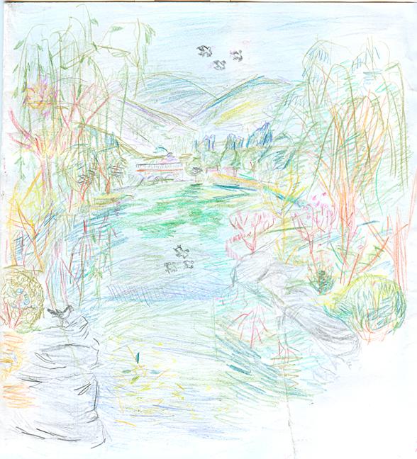 植物园 彩色铅笔写生
